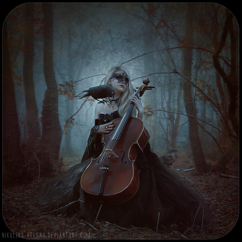 Луна и скрипка картинки