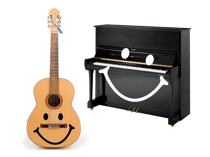 Гитара и пианино картинка