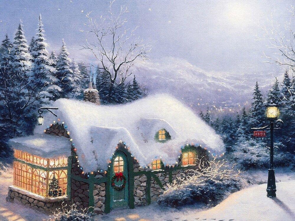 Днем, открытки с природой новогодние