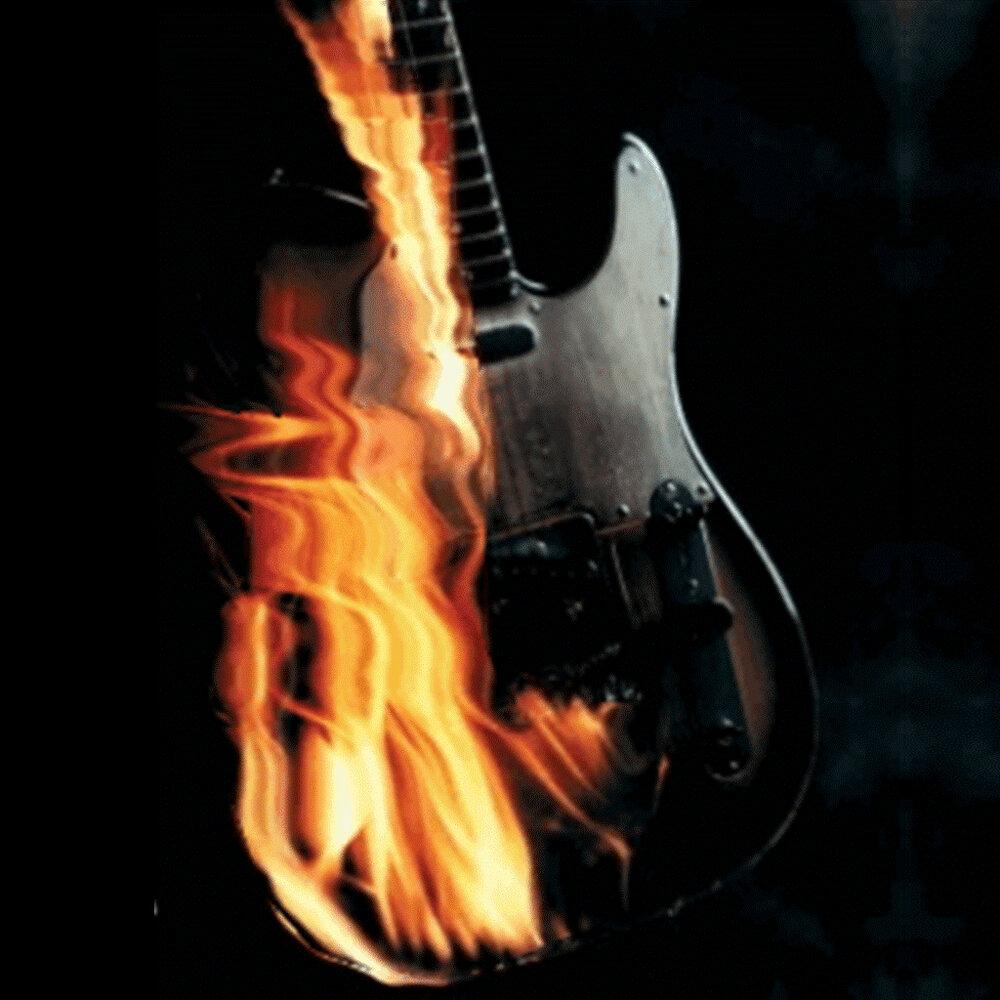 Огненная гитара гифка, моя нежность слабость